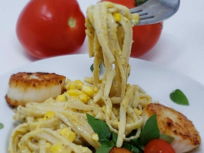Lemon Pasta with Corn Sauce