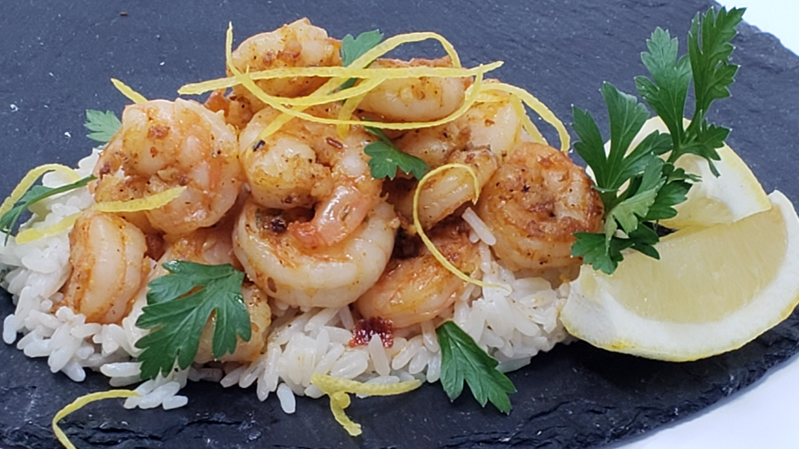 Harissa Shrimp Coconut Rice