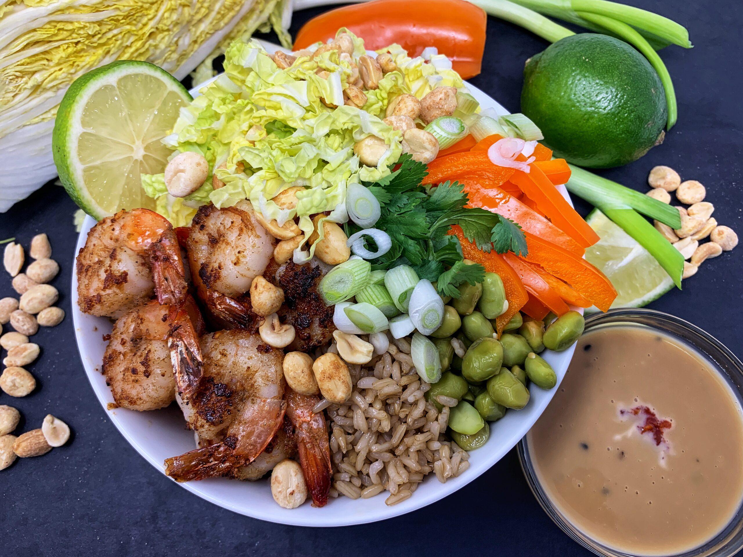 Shrimp & Napa Cabbage Bowl