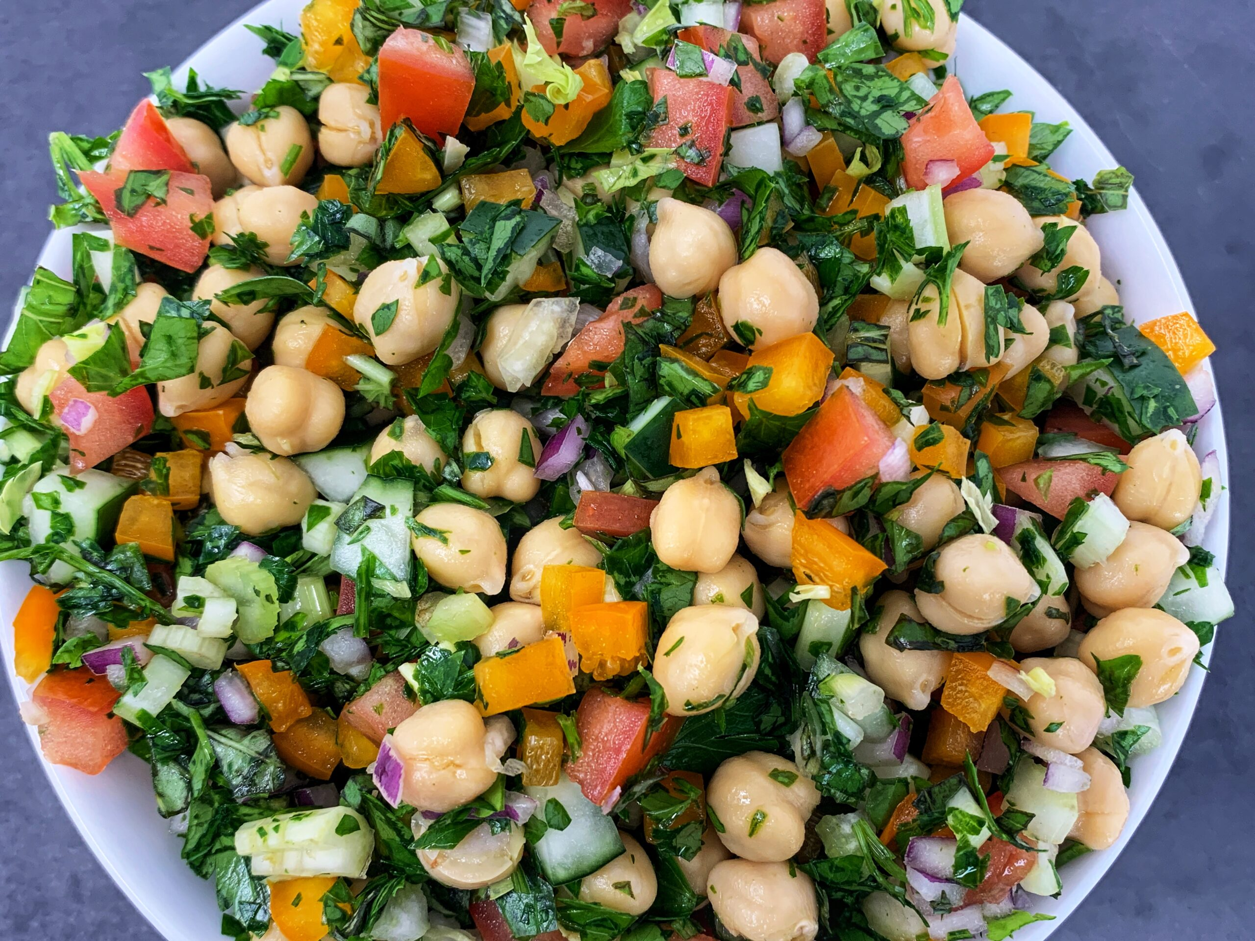 Prepared Herby chickpea salad