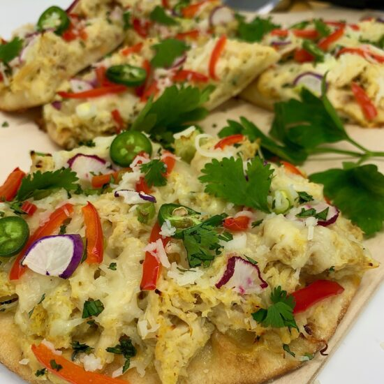 Naan pizza mango chutney 2