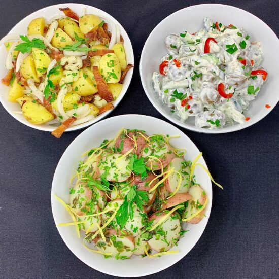 3 Potato Salads - European Style
