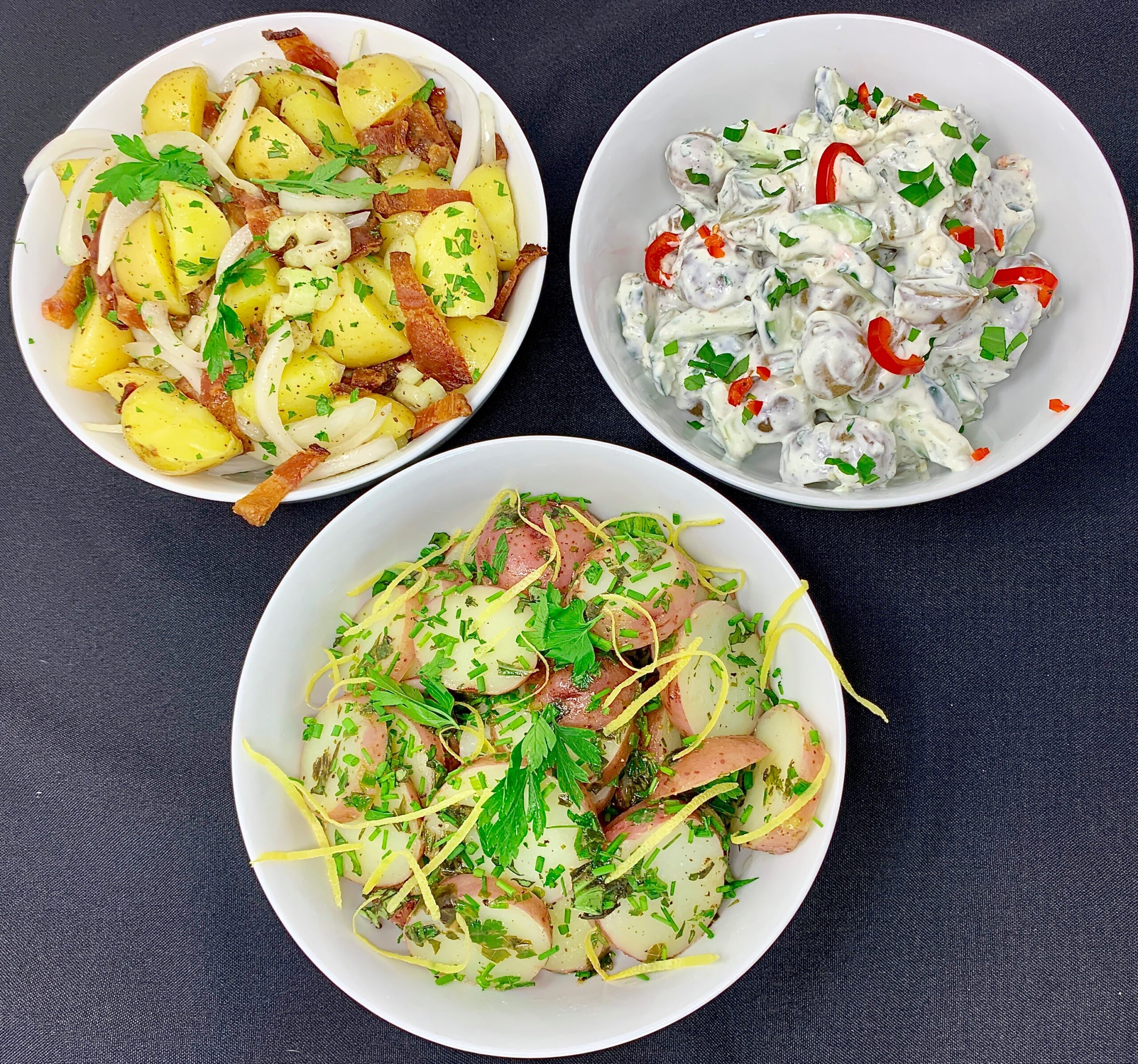 3 Potato Salads - European Style