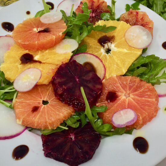 Arugula Orange & Radish Salad