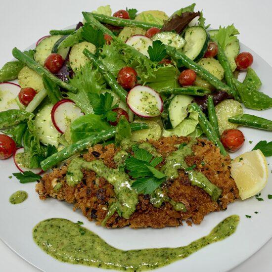 Crispy Chicken & Herby Salad