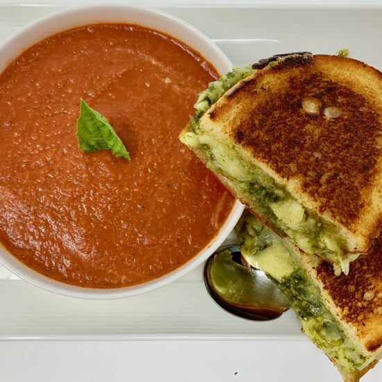 Tomato Soup Grilled Cheese