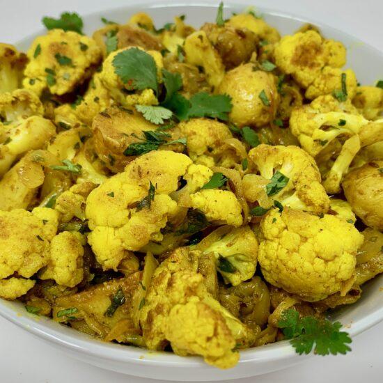 Masala Potato and Cauliflower