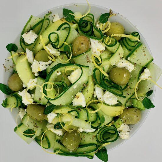 Green Greek Cucumber Salad 2