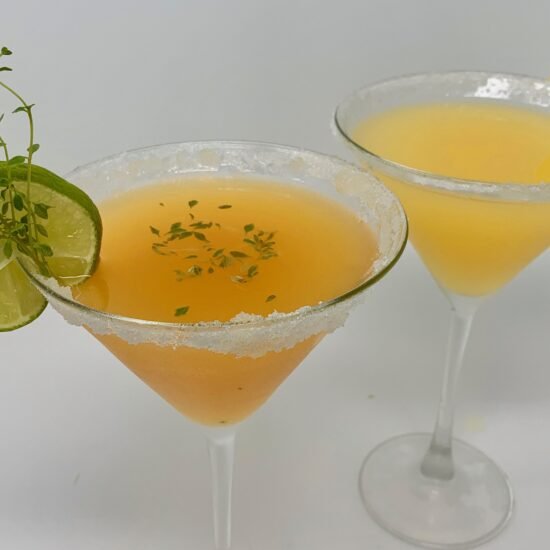 Pineapple & Peach Ginger Tinis