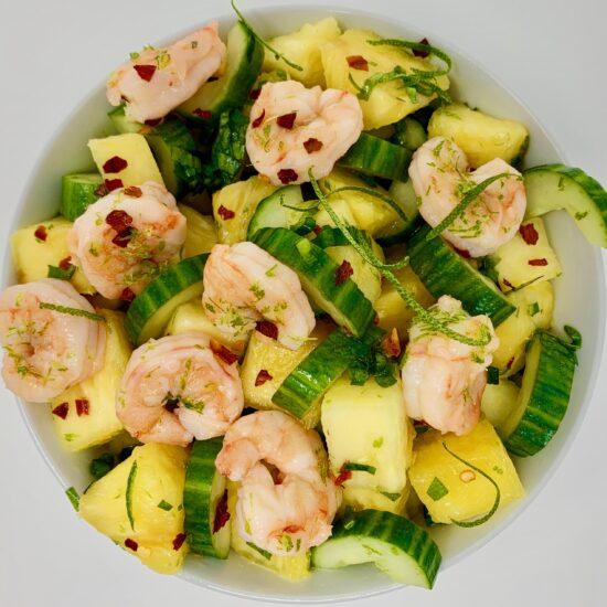 Pineapple Culantro Cucumber Salad
