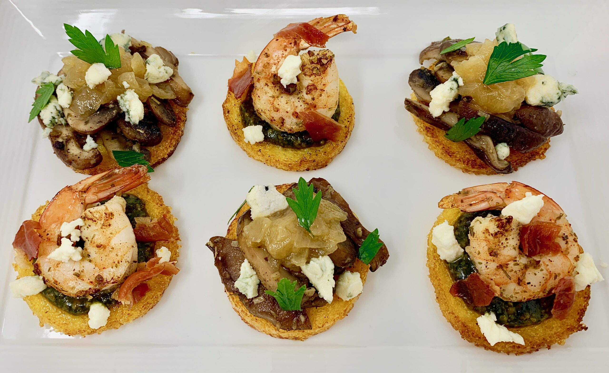 Polenta Rounds Appetizers